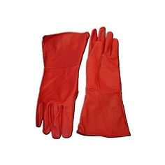 Leather Gauntlet Gloves RED MEDIUM Long Arm Cuff ($30) ❤ liked on Polyvore featuring jewelry, bracelets, long jewelry, leather bangles, red jewellery, arm cuff jewelry and sports jewelry