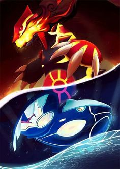 Groudon and Kyogre