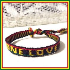 3 for $8 • ONE LOVE - Bob Marley Rasta Bracelet ❌PLEASE DON'T BUY THIS LISTING❌ I will create a new listing with this same bracelet/bundle.❣Match the 3 for $8 to save even more/pick any bracelet of your choice & I will give you a discount on bundle anyway❣Price is firm otherwise bundled.  One Love Jamaican colored macrame bracelet. ⓢⓘⓩⓔ: Bracelet's 10 1/2 inches long (size may vary) Jewelry Bracelets