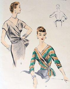 Vogue 8143 ©1953 tie-on blouse
