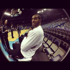 LaMarcus Aldridge, shortly after learning he had made the All-Star team.  Article here: www.oregonlive.co...