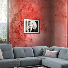 #red #ConcreteEffect #Divas Diva Design, Divas, Love Seat, Couch, Red, Furniture, Collection, Home Decor, Settee