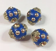 4 DODGER BLUE INDONESIA Beads