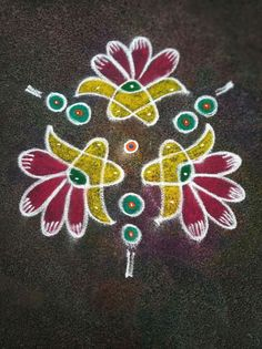 Rangoli Designs Latest, Simple Rangoli Designs Images, Rangoli Designs Diwali, Kolam Rangoli, Beautiful Rangoli Designs, Easy Rangoli, Rangoli Borders, Rangoli Border Designs, Rangoli Designs With Dots
