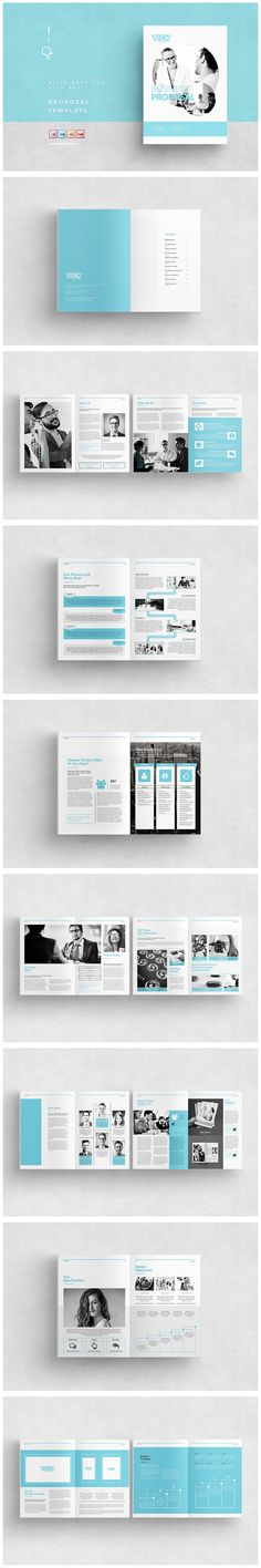 A Q U A Landscape Brochure Template Indesign Indd  A And Us