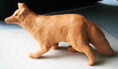 Modeling clay fox