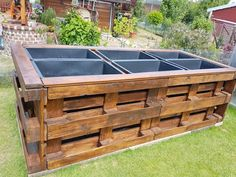 Raised bed made of pallets and mortar buckets # raised garden beds Raised bed made of pallet . - Raised bed made of pallets and mortar buckets # raised garden beds Raised bed made of pallets and m -