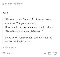 Brother!!!!!!!! Dude basically he is your brother now, since you married aelin and are her mate and Aedion is the only living relative of Aelin( for now )