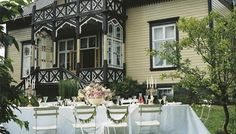 Villa Snøringsmoen in Swiss Style in Lillesand, Aust Agder County, Norway Hotel Inn, Kristiansand, Sweden Travel, Scandinavian Living, House Windows, Coastal Cottage, Nordic Style, Luxury Interior, House Painting