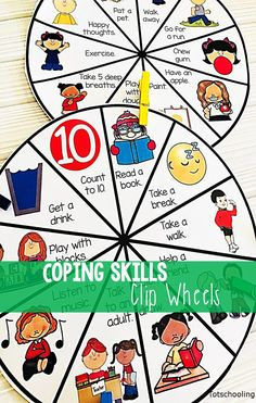 Coping Skills Clip Wheels Coping Skills Clip Wheels,Classroom Management FREE behavior management clip wheel for kids to develop social skills and learn how to cope with big emotions. Coping Skills Activities, Social Emotional Activities, Social Emotional Development, Kids Coping Skills, Social Skills Autism, Emotions Activities, Social Skills For Kids, Shape Activities, Mindfulness Activities