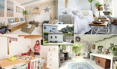 Women are creating their own 'she sheds' at the bottom of the garden to carve out a quiet spaces away from the demands of family life and children with sticky fingers - with very glamorous results. She Sheds, Family Life, Man Caves, Projects To Try, Create, Sticky Fingers, Bed, Garden, Mail Online