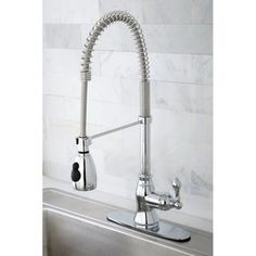 @Overstock - Update the look and function of your kitchen sink by installing a single-handled pull-down kitchen faucet. This faucet features a flexible neck, allowing you to direct the flow of water precisely where you need it.http://www.overstock.com/Home-Garden/Chrome-Spiral-Pull-down-Kitchen-Faucet/5785729/product.html?CID=214117 $125.99
