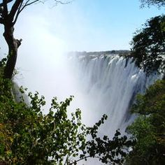 See Victoria Falls the largest waterfall in the world