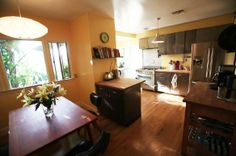 Vivi & Gaston's Modern Family Home - Like the bookshelves for cookbooks