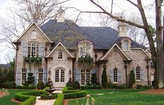 traditional Home Exterior Ideas | Fabulous Modern Value Exterior Home Traditional Stone Wall Green Lawn ...