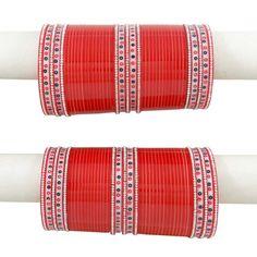 Ethnic Designer 86 Pcs Red Chura Bangles ,Indian Traditional Women Wedding Jewellery Indian Bridal Jewellery-2*6-BCB40