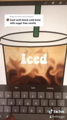 Starbucks Coffee, Iced Coffee, Coffee Shop, Creative And Aesthetic Development, Coffee Art, Cold Brew, Coffee Recipes, Sticker Design, Sugar Free