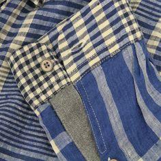 Paul Smith Jeans  Linen Check Blue SHirt