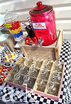 Disney Cars Rustic Birthday Dessert Table
