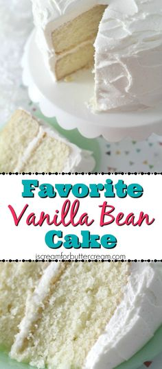 A scratch vanilla cake that is moist, full of vanilla bean flavor, rich and buttery with a hint of almond flavor.