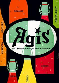 Agis mineral water. Vintage drink poster. http://www.vintagevenus.com.au/vintage/reprints/info/D320.htm