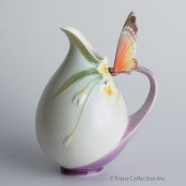 Franz Porcelain Papillon butterfly vase/pitcher - Cost $97.50  -  please click image for more info...