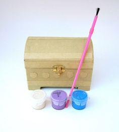 Mermaid Treasure Chest Decorating Craft Kit by CraftKit on Etsy, $8.00