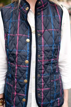 Joules Vests, Brown Boots, and Oxford Shirts in the City - Kelly in the City