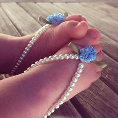 Baby barefoot sandals, baby girl jewelry, baby keepsake, flower girl, baptism, white beaded baby jewelry, baby shoes