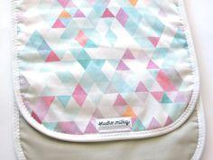 Pram liner Stroller liner Watercolour Triangles. by studiomilky