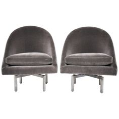 Mid-Century Swivel Chairs | From a unique collection of antique and modern swivel chairs at http://www.1stdibs.com/furniture/seating/swivel-chairs/