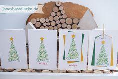 JanasBastelecke: 12 Tage Weihnachten 2016 - Einfaches Grußkärtchen Tannenbaum