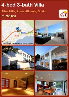 4-bed 3-bath Villa in Altea Hills, Altea, Alicante, Spain ►€1,250,000 #PropertyForSaleInSpain