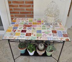 mesa de mosaicos