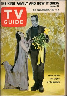 tv guide The Munsters Munsters Tv Show, The Munsters, Vintage Tv, Vintage Magazines, Old Tv Shows, Movies And Tv Shows, Yvonne De Carlo, Classic Monsters, Poster