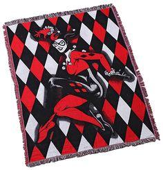 Harley Quinn Woven Blanket