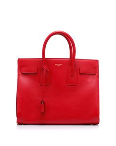 Leather bag with handles and detachable shoulder strap by #SaintLaurent - might actually be better than the celine.