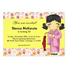 Sold this #japanese #birthday invitation to NY. Thanks for you who purchased this