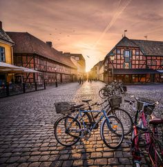 Sunset over the streets of Malmo by Catalin Tibuleac on 500px