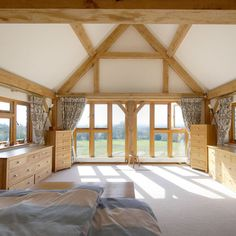 Learn more about oak framed design and build from our past client experiences while gaining inspiration for your own project. Oak Bedroom, Future House, Valance Curtains, Bungalow, Extensions, Loft, Windows, Architecture, Gallery