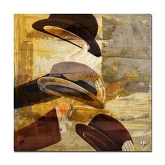 'Hats' by Alexis Bueno Painting Print on Wrapped Canvas