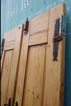 アンティーク 木製 建具 扉 オールドパイン 両開き 観音開き リノベーション リフォーム 店舗什器 大型 店舗開業