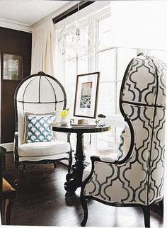 High backed chairs with detailing.<3
