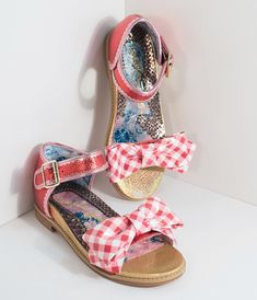 53a911548fcd Irregular Choice Red Gingham Picnic Day Sandals