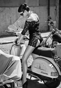 'Retro Vespa' ~ That seat's a lucky, lucky strip of leather.