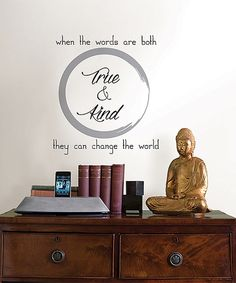 Another great find on #zulily! True and Kind Peel & Stick Wall Quote by WallPops! #zulilyfinds