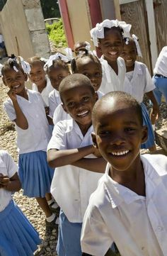 Haitian school children -I can't wait to play with these sweet babies!