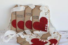 Elegant Valentine tag Valentine tag Heart and by Justabitofpaper, $6.00