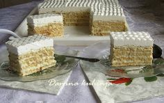 Danina kuhinja: Bele keks kocke sa kokosom