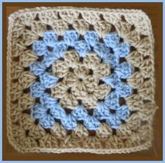 Crochet Patterns for the beginner or the advanced: Beginner Traditional Granny Square Pattern 1